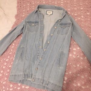 Fashionable Button-Up Long Jean Jacket